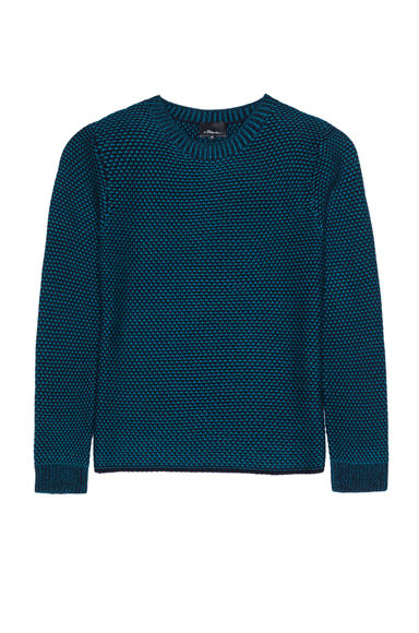 3.1 PHILLIP LIM | Wool Crochet Sweater in Teal