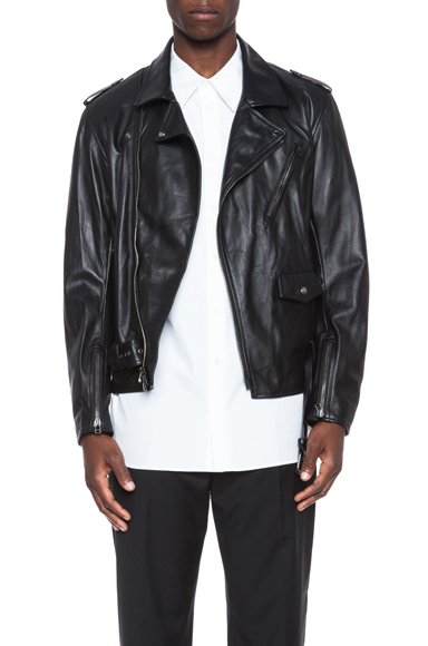 3.1 PHILLIP LIM | Lambskin Leather Moto Jacket in Black