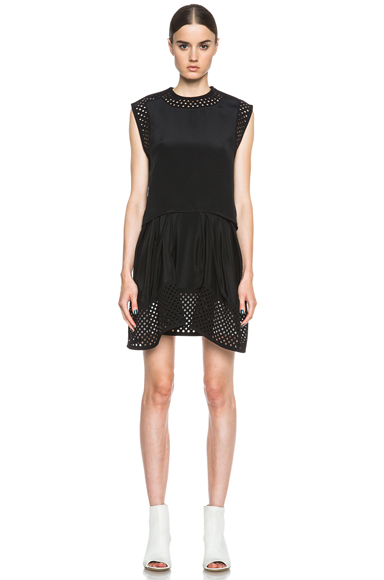 3.1 PHILLIP LIM | Laser Cut Silk Dress in Black