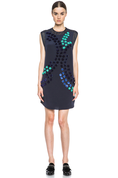 3.1 PHILLIP LIM | Dandelion Silk Dress in Midnight