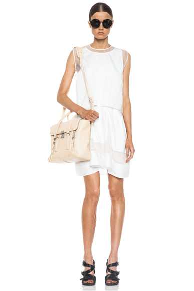 3.1 PHILLIP LIM | Umbrella Skirt Cotton Dress in White