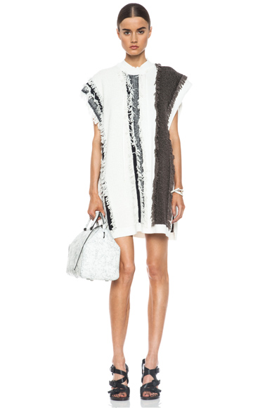 3.1 PHILLIP LIM | Striped Fringe Knit Tunic in Ivory Multi