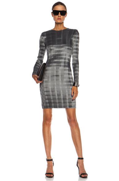 ALEXANDER WANG | Pleated Knee Length Poly Dress in Erosion
