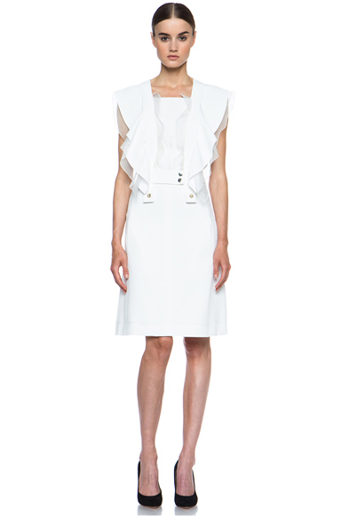 CHLOE | Acetate-Blend Dress in Off White