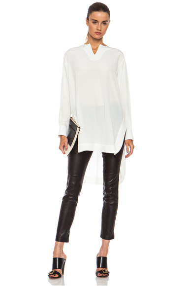 CHLOE | Crepe De Chine Blouse in Milk