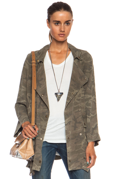 CURRENT/ELLIOTT | The Infantry Rayon Jacket in Army Camo