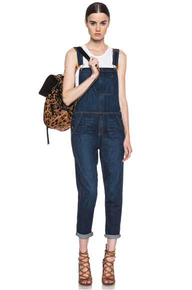 CURRENT/ELLIOTT | Ranchhand Denim Overalls in Bedford