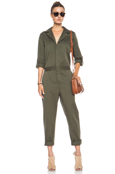 CURRENT/ELLIOTT | The Mechanic Cotton Jumper in Recruiter Green