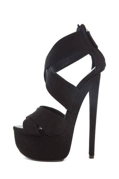GIUSEPPE ZANOTTI | Cross Over Heel in Black