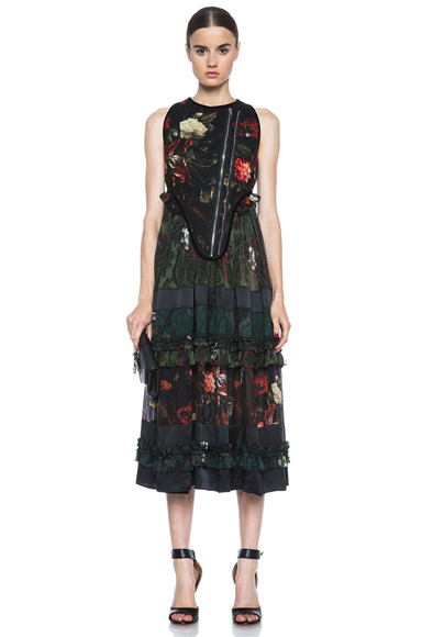 GIVENCHY | Floral Print Gypsy Wool & Silk Dress in Multi