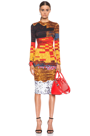 GIVENCHY | Mosaic Cotton T-Shirt Dress in Multi