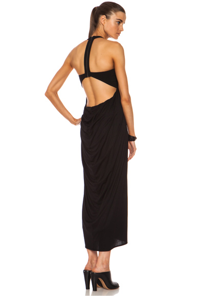 HELMUT LANG | Viscose Jersey Dress in Black