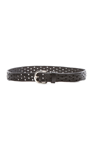 ISABEL MARANT | Klaude Leather Belt in Black