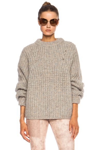 ISABEL MARANT | Newt Mohair-Blend Sweater in Beige