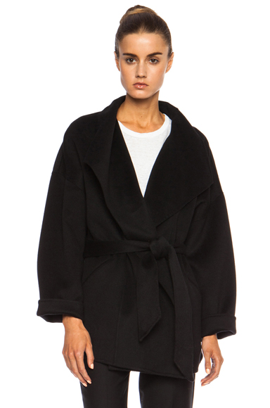 ISABEL MARANT | Heaton Double Face Wool-Blend Coat in Black