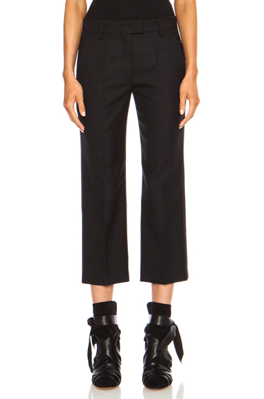 ISABEL MARANT | Saphir Boyish Costard Virgin Wool Pant in Black