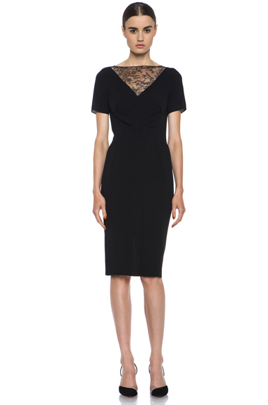 Nina Ricci|Silk Crepe Dress in Black [1]