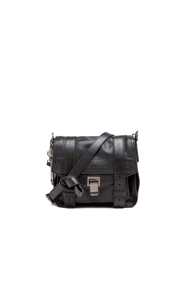 PROENZA SCHOULER | PS1 Leather Pouch in Black