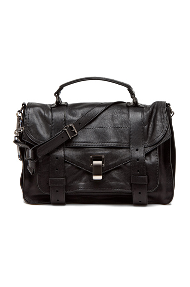 PROENZA SCHOULER | Medium PS1 Leather in Black