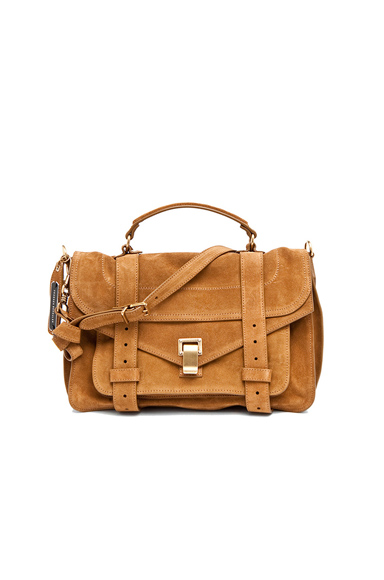 PROENZA SCHOULER | Medium PS1 Suede in Tobacco