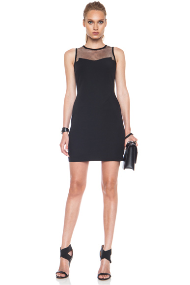 RAG & BONE | Franklin Nylon-Blend Dress in Black