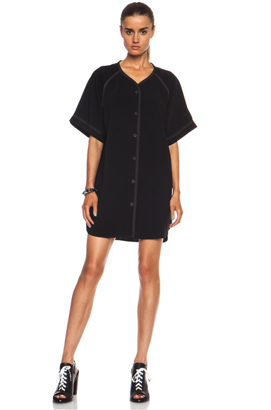 RAG & BONE | Varsity Triacetate-Blend Dress in Black