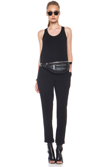 RAG & BONE | Jess Triacetate-Blend Jumpsuit in Black