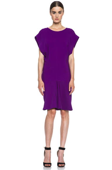 Stella McCartney|Aubrey Viscose-Blend Dress in Violet [1]