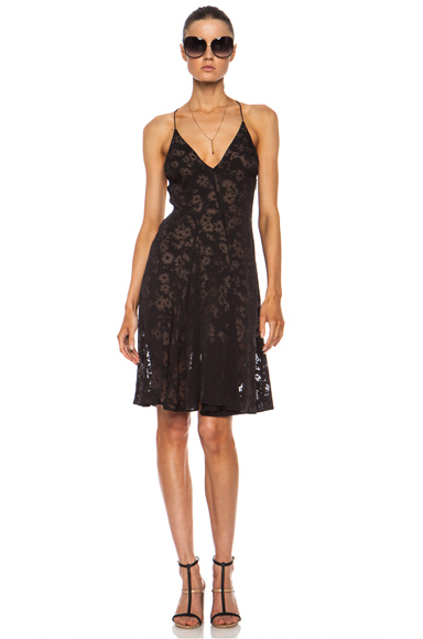 STELLA MCCARTNEY | Burnout Floral Rayon-Blend Dress in Espresso