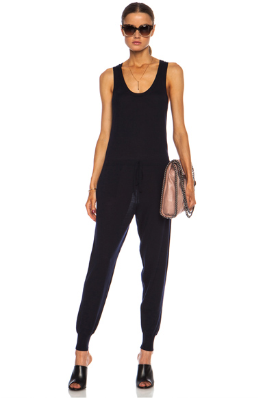 STELLA MCCARTNEY | All in One Wool Jumpsuit in Ink