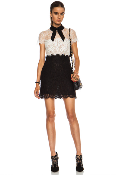 VALENTINO | Lace Dress in Black