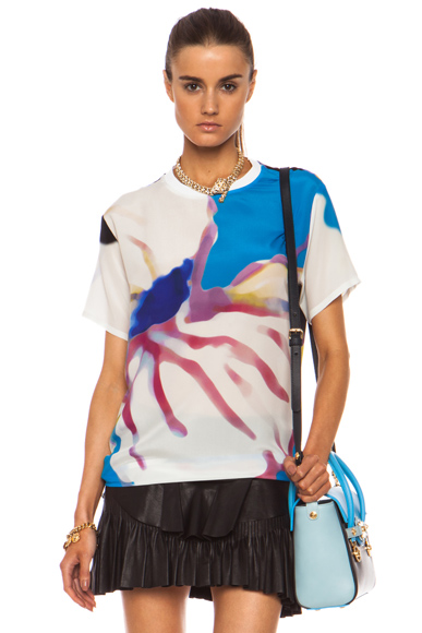 VERSACE | Flower Silk Tee in Multi