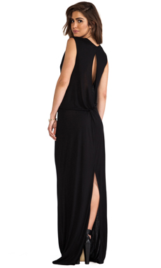 10 CROSBY DEREK LAM Knot Back Maxi in Black