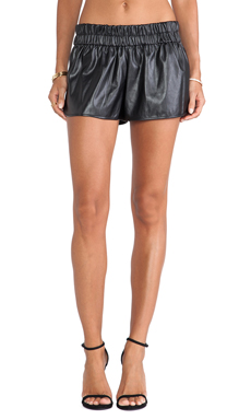 10 CROSBY DEREK LAM Elastic Waist Boxer Short in Black