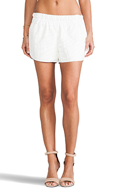 10 CROSBY DEREK LAM Elastic Waist Short in Soft White