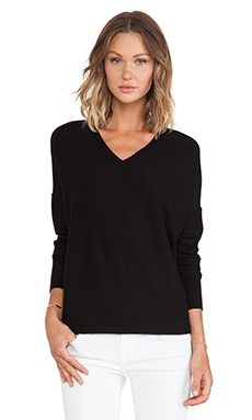 10 CROSBY DEREK LAM Oversized V-Neck in Black