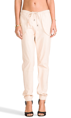10 CROSBY DEREK LAM RUNWAY Leather Pant in Nude