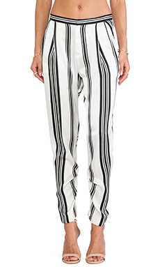 10 CROSBY DEREK LAM Pleated Trouser in Black & White