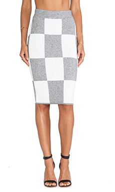 10 CROSBY DEREK LAM Pencil Skirt in Grey