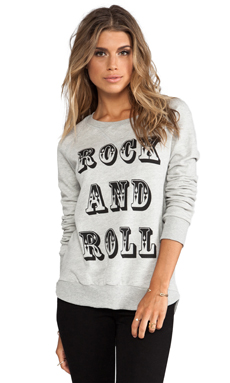 291 Rock and Roll Pullover Sweatshirt in Heather Grey
