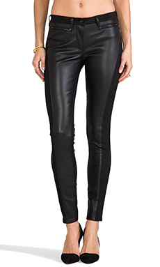 3x1 W2 Leather Skinny in Black Leather