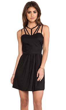 6 SHORE ROAD Cage Mini Dress in Blackout