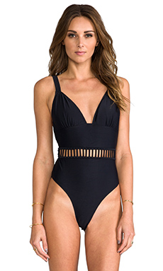 6 SHORE ROAD Bombini One Piece in Black Rock