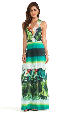 AGUADECOCO Tropical Print Jumpsuit in Niemeyer