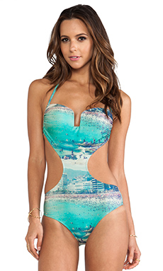 AGUADECOCO Brazilian One Piece in Vintage Rio