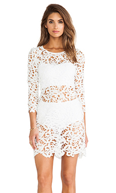Assali Chloe Dress en Blanc
