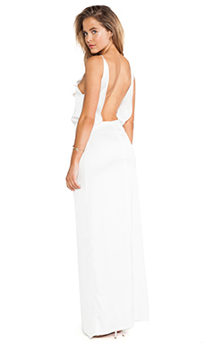 Assali Paola Long Dress in White