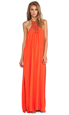 Acacia Swimwear Positano Maxi Dress in Hibiscus