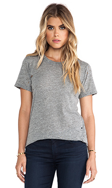 A Fine Line June Distressed Tee in Heather Grey
