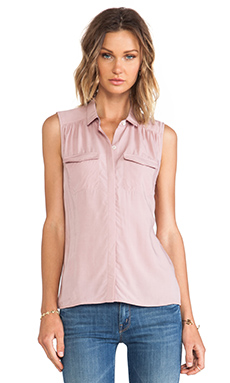 AG Adriano Goldschmied Sway Sleeveless Tank in Faded Mauve